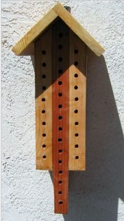 wood block solitary bee house